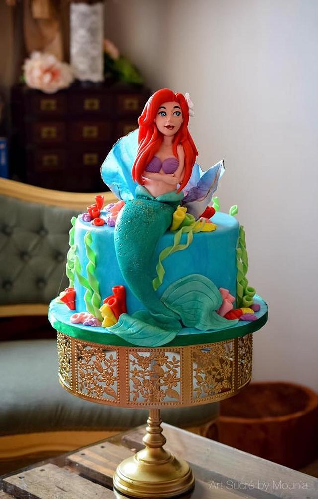 Fabulous Little Mermaid Birthday Cake Cake By Art Sucre By Cakesdecor Funny Birthday Cards Online Alyptdamsfinfo