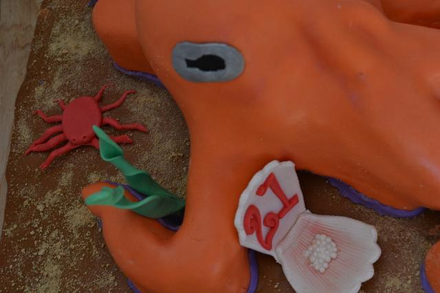 3D Octopus Cake