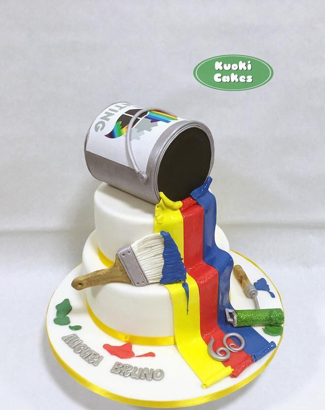 Paint Cake Cake By Donatella Bussacchetti Cakesdecor
