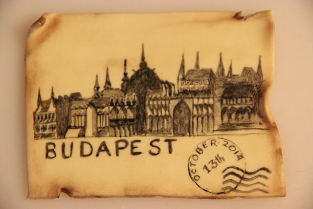 Budapest - Handpainted vintage postcard
