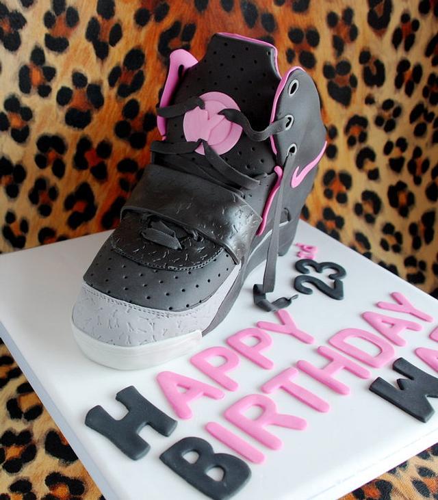 Nike Air Yeezy trainer cake