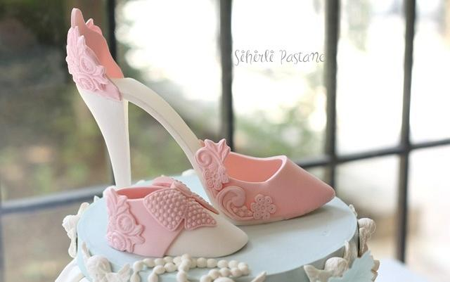 Mother and Baby Shoe Cake
