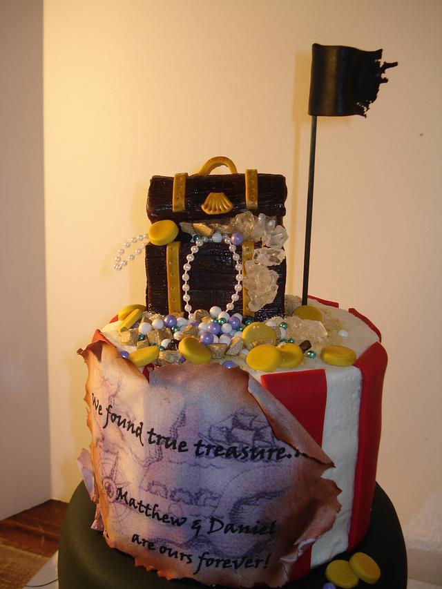 Pirate Cake for Adoption Ceremony