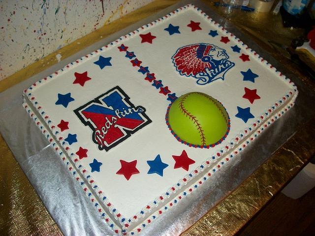 Softball Team Cake
