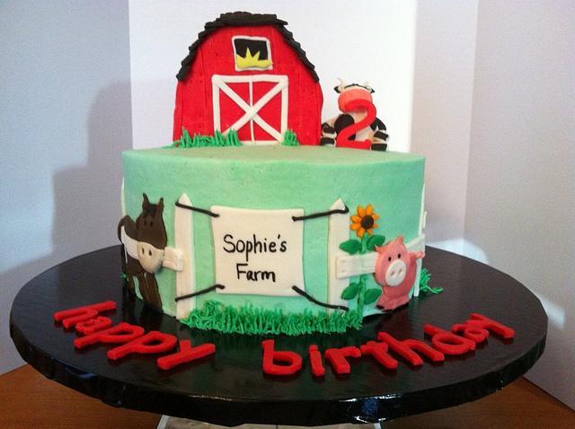 Magnificent Farm Birthday Cake Cake By Sweet Scene Cakes Cakesdecor Funny Birthday Cards Online Unhofree Goldxyz