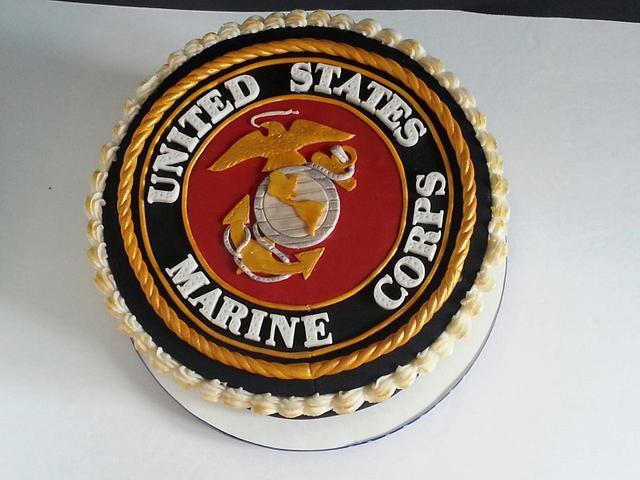 Incredible Semper Fi Marine Corps Birthday Cake With Marine Corps Cakesdecor Birthday Cards Printable Trancafe Filternl