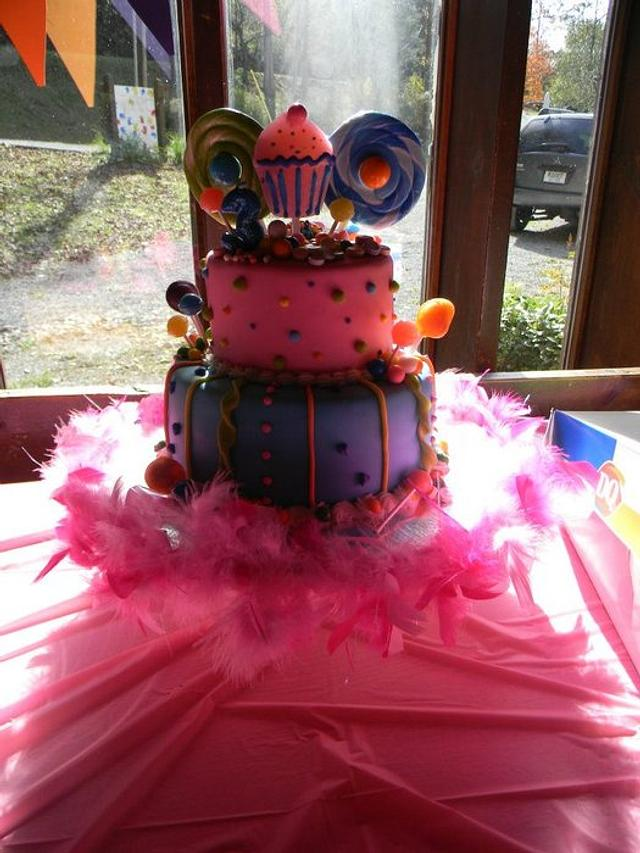 Candy shop themed cake