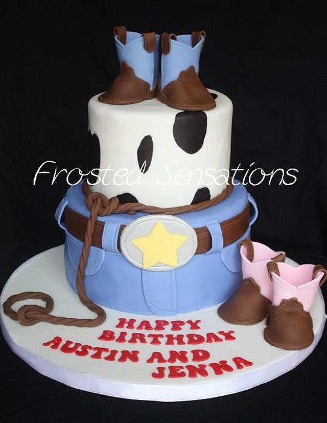 Super Cowboy Birthday Cake Cake By Virginia Cakesdecor Funny Birthday Cards Online Necthendildamsfinfo