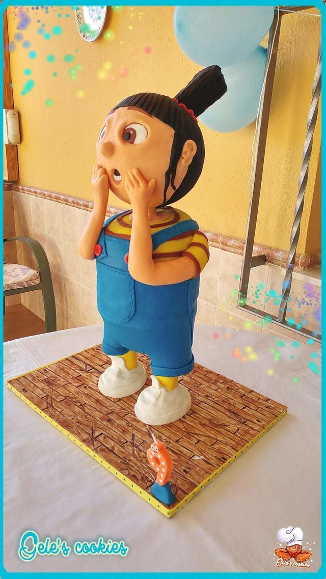 Agnes 3d cake structure, of despicable me