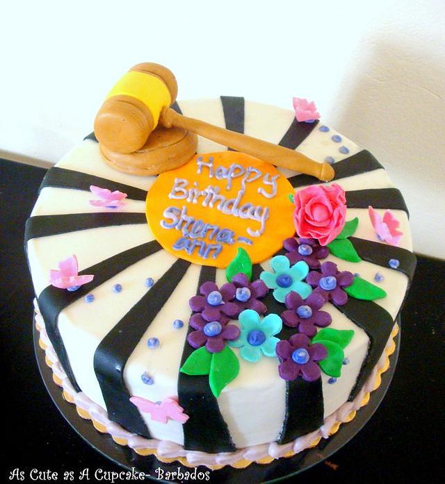 Law Inspired Birthday Cake