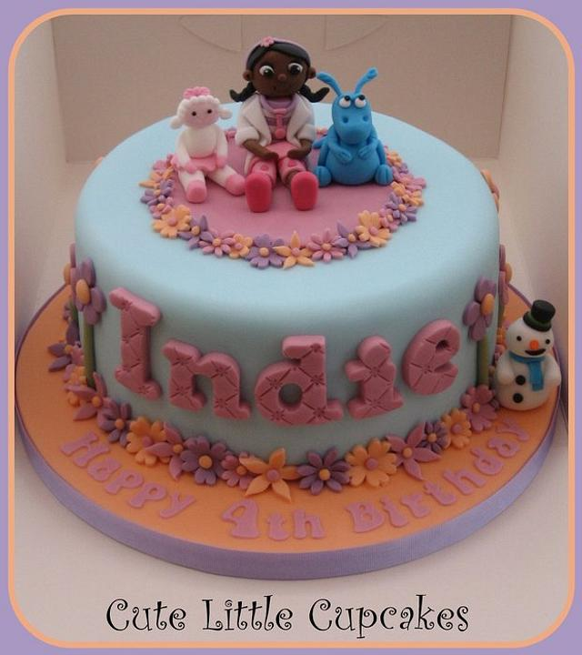 Cool Doc Mcstuffins Birthday Cake Cake By Heidi Stone Cakesdecor Birthday Cards Printable Nowaargucafe Filternl