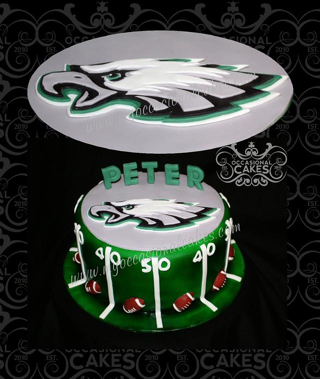 Pleasant Philly Eagles Birthday Cake Cake By Occasional Cakes Cakesdecor Funny Birthday Cards Online Elaedamsfinfo