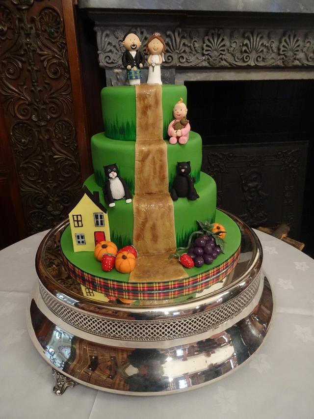 The green wedding cake