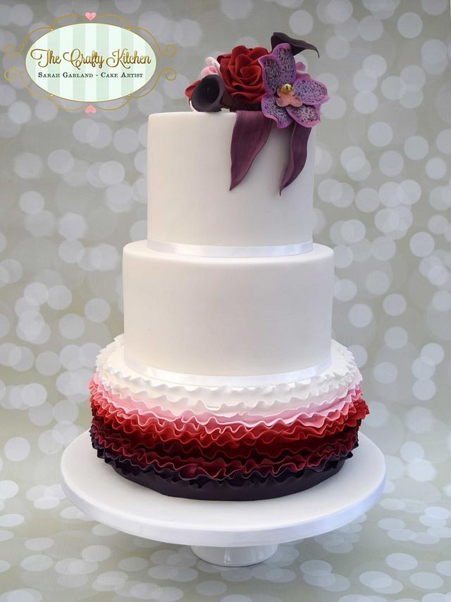 Plum and Berry Wedding Cake