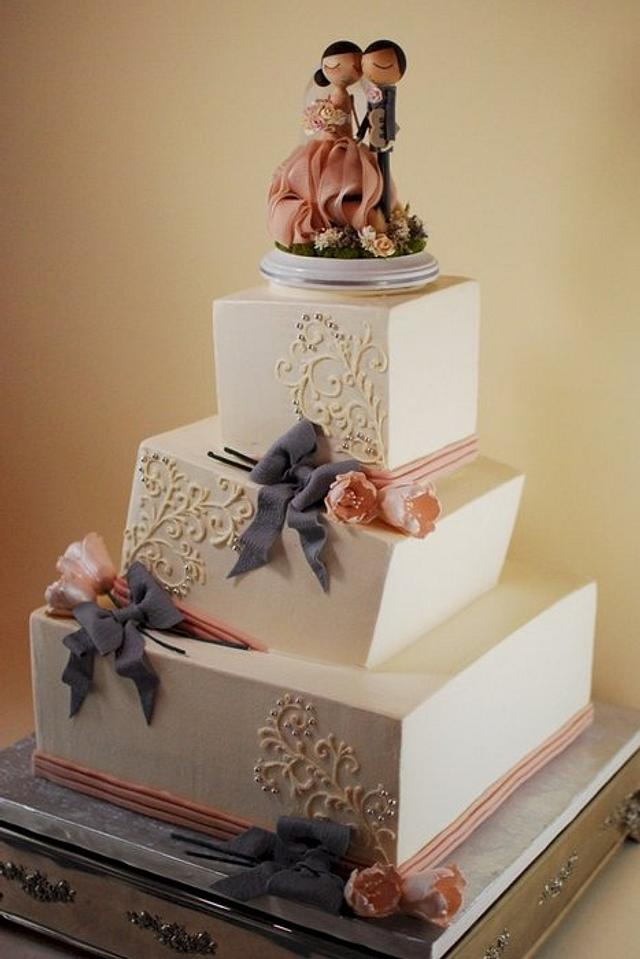 Wonky Wedding Cake