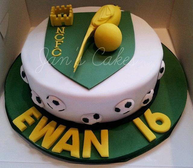 Norwich City Football Club birthday cake