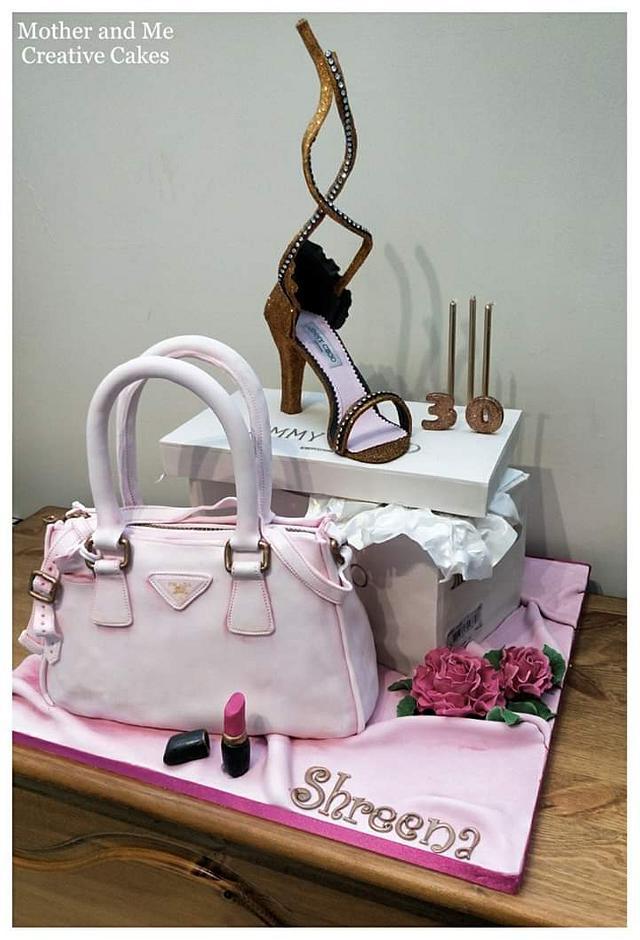 Bag and Shoe Cake