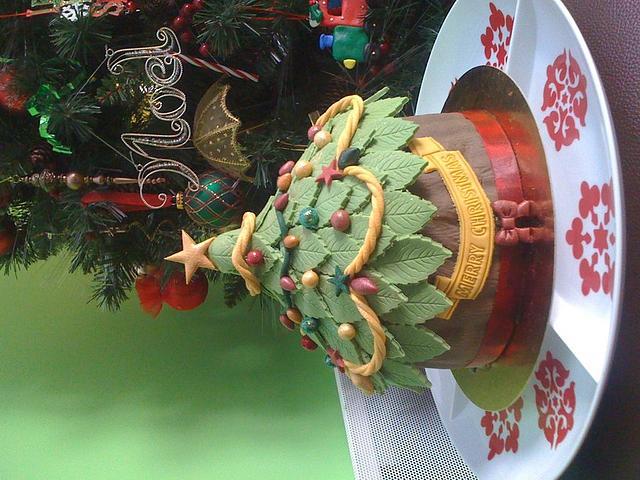 Xmas Tree Giant cupcake