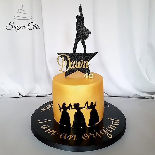 Astonishing X Hamilton The Musical Birthday Cake X Cake By Sugar Cakesdecor Funny Birthday Cards Online Fluifree Goldxyz