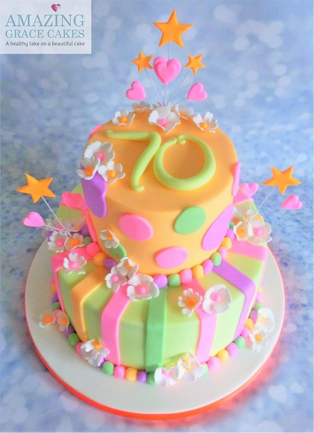 Neon Party Cake