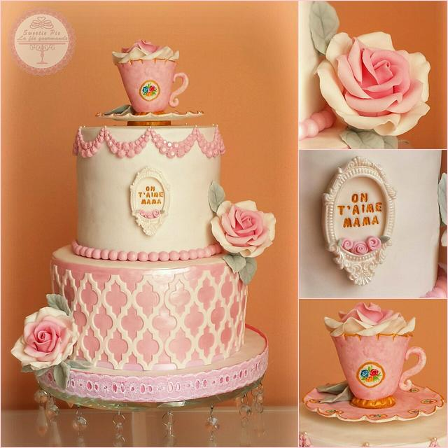 Mother's day tea cup Cake