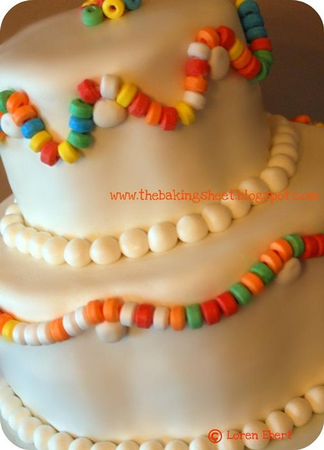 Candy Necklace Cake!
