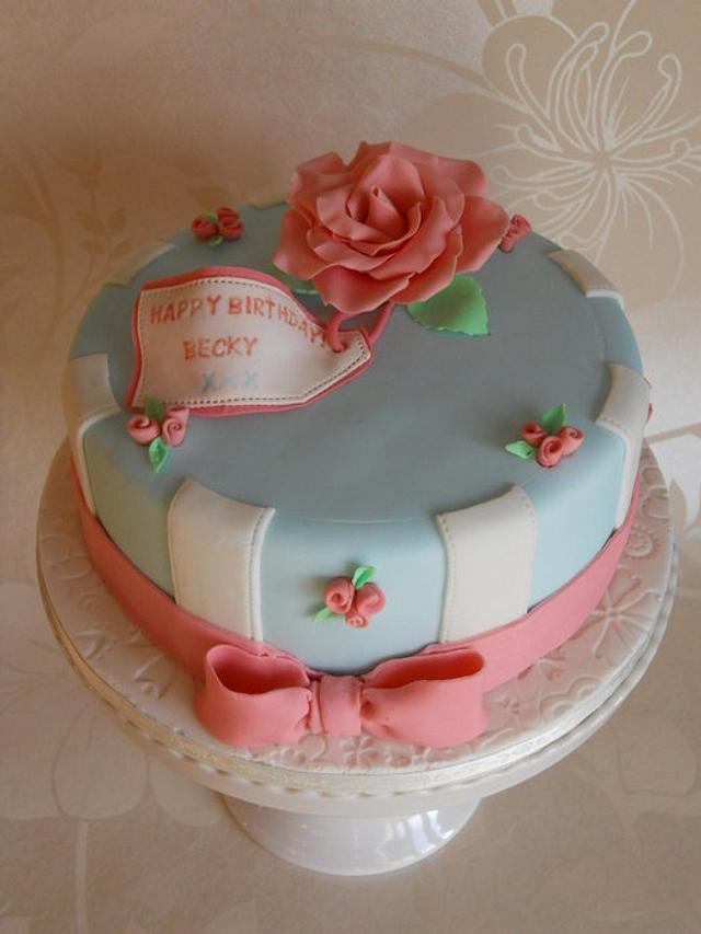 Cath Kidston Inspired Birthday Cake