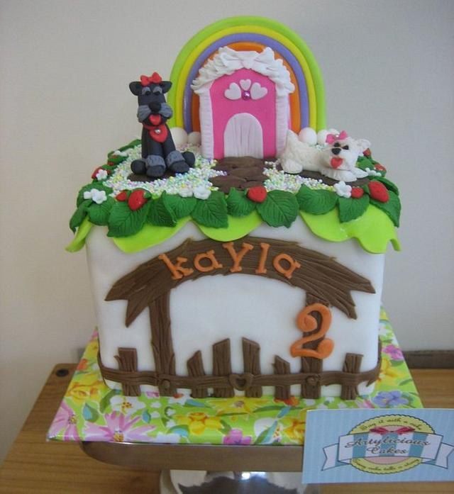 Strawberry & doggy cake