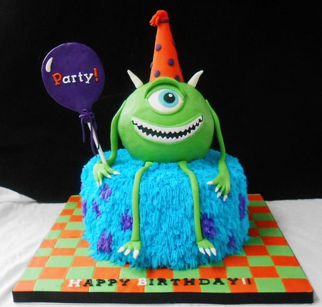 Fantastic Monsters Inc Birthday Cake Cake By Heather369 Cakesdecor Personalised Birthday Cards Veneteletsinfo