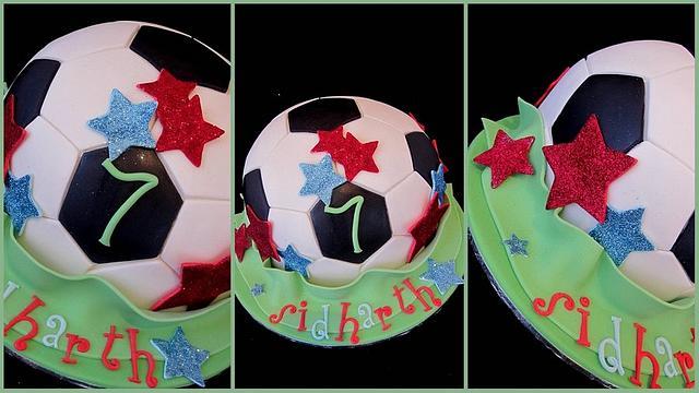 Soccer ball cake