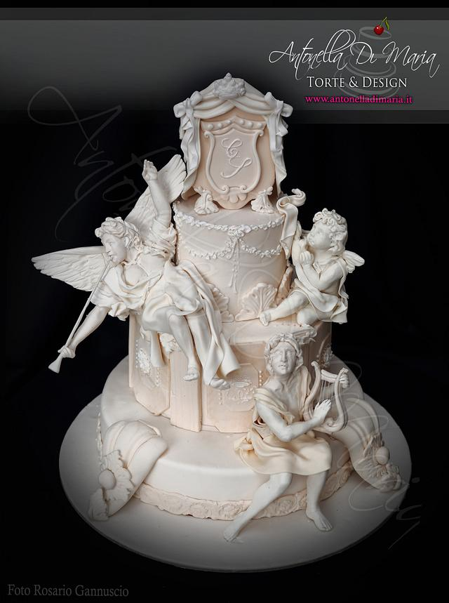 Baroque stile wedding cake