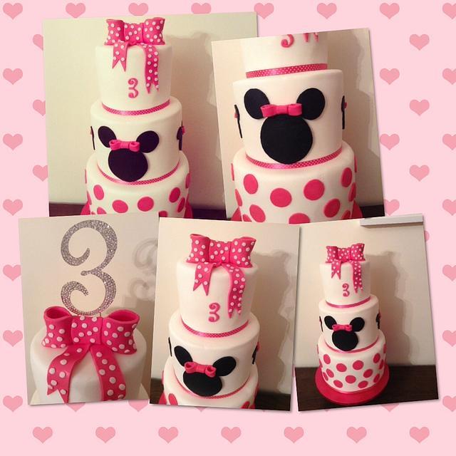 Minnie Explosion Cake