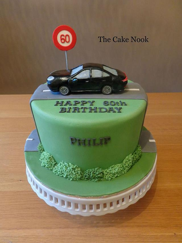 Groovy Car Birthday Cake Cake By Zoe White Cakesdecor Personalised Birthday Cards Cominlily Jamesorg