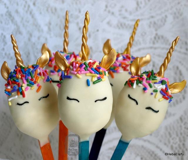 Unicorn Cakesicles.