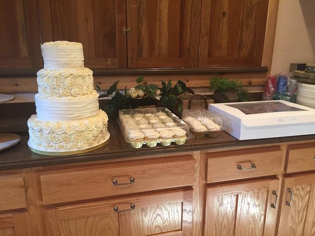 Flat Ruffles & Rosette Wedding
