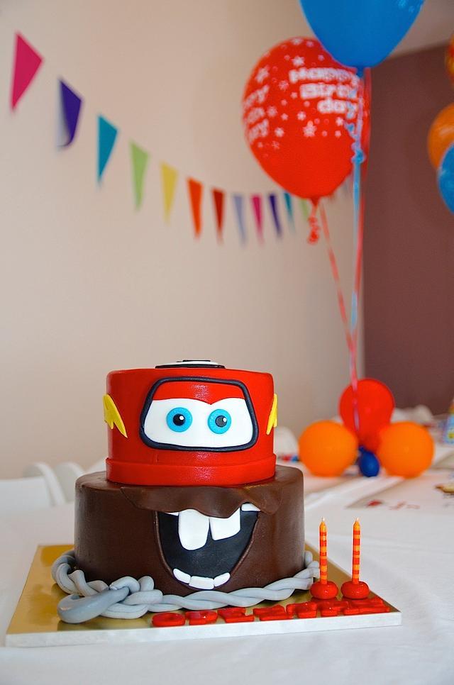 Awe Inspiring Cars Themed Birthday Cake For My Sons 2Nd Birthday Cakesdecor Personalised Birthday Cards Veneteletsinfo