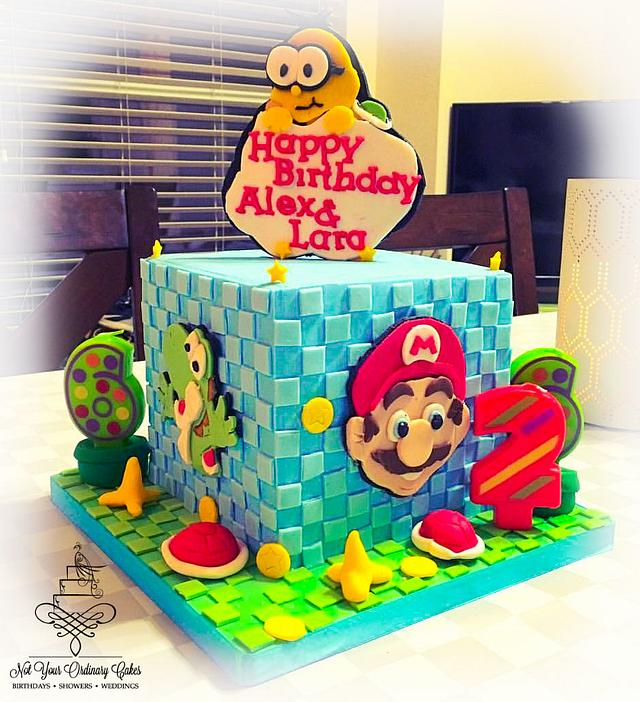 Outstanding Mario And Yoshi Birthday Cake By Not Your Ordinary Cakesdecor Funny Birthday Cards Online Necthendildamsfinfo