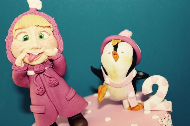 masha e il pinguino!
