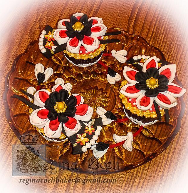 Kanzashi Cupcakes