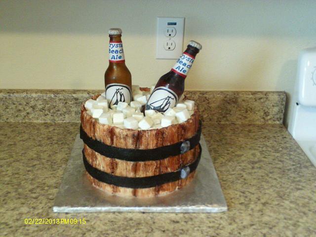 isomalt beer bottle cake