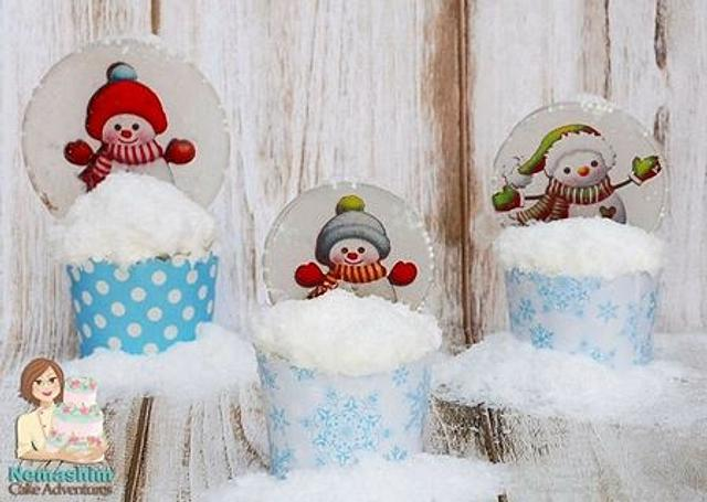 snowball glass cupcake tutorial
