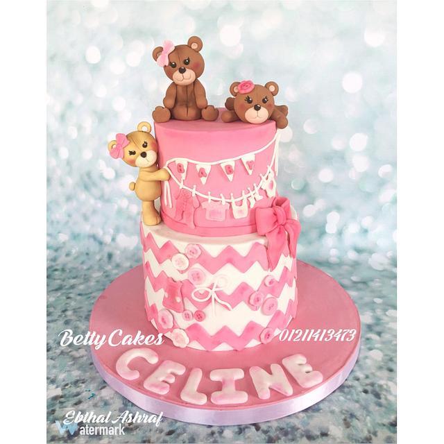 Teddy bear baby shower Cakes