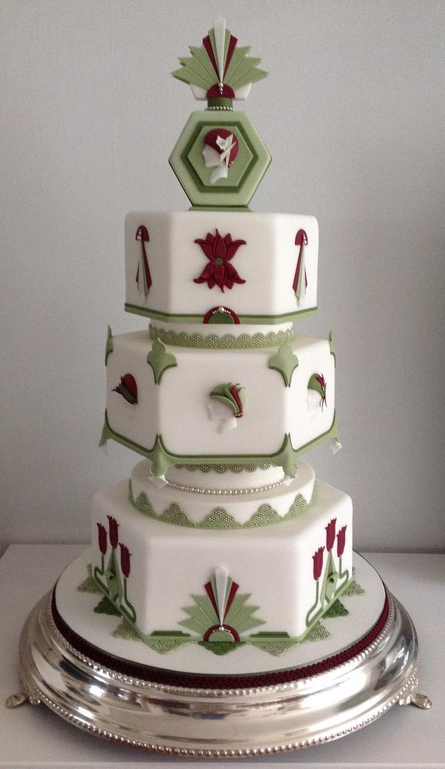 Art Deco Weddingcake