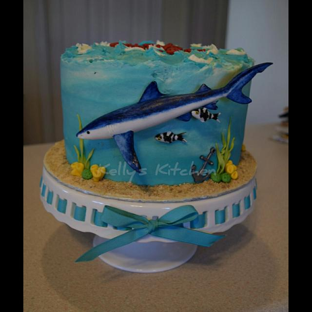 Amazing Blue Shark Birthday Cake Cake By Kelly Stevens Cakesdecor Funny Birthday Cards Online Fluifree Goldxyz