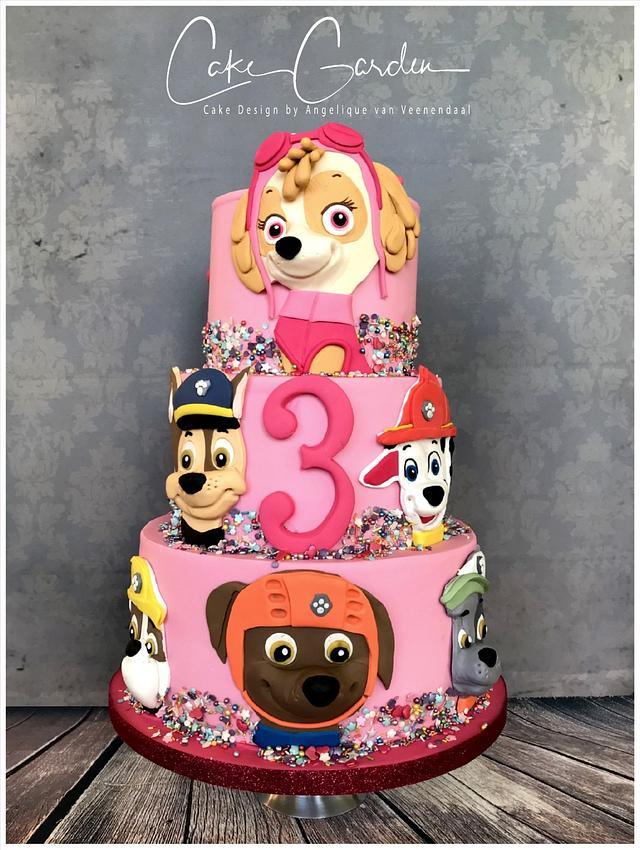skye paw patrol cake  cakecake garden  cakesdecor