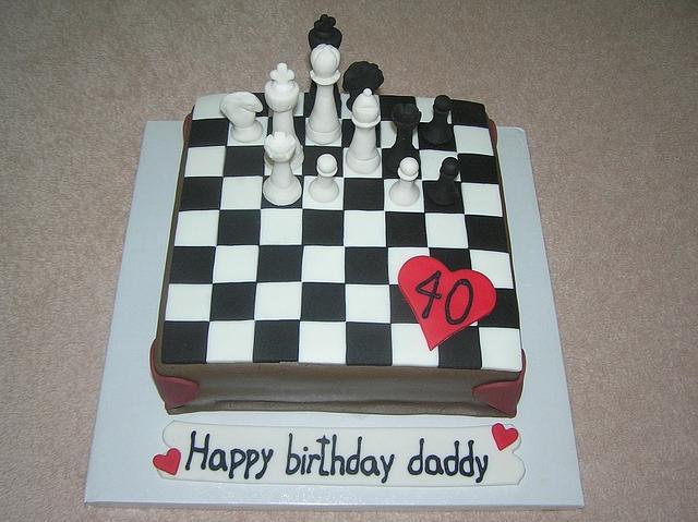 Miraculous Chess Birthday Cake Cake By Barbora Cakes Cakesdecor Funny Birthday Cards Online Overcheapnameinfo
