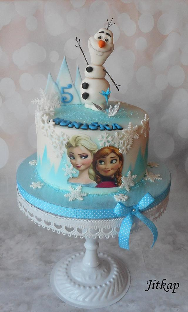 Pleasing Frozen Birthday Cake Cake By Jitkap Cakesdecor Funny Birthday Cards Online Elaedamsfinfo