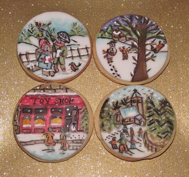 Vintage Handpainted cookies