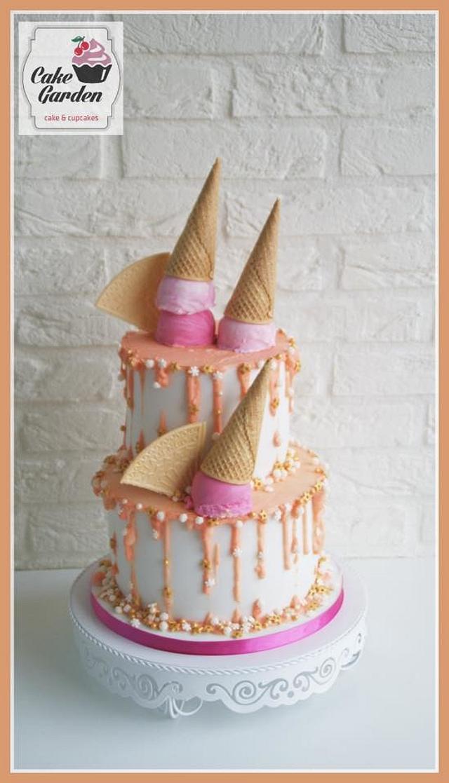 drip icecream cake