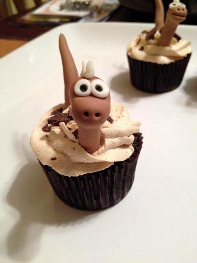 Dinosaur cupcakes are dino-mite!